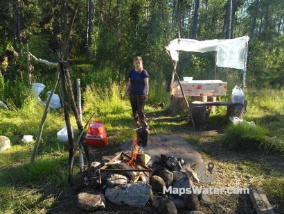 Стоянка-стапель на реке Охта