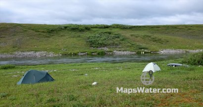 Лагерь выше усинского порога