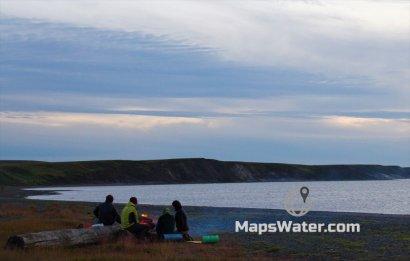 Предпоследний лагерь на Карском море, полночь