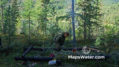 Бивак на Черном озере