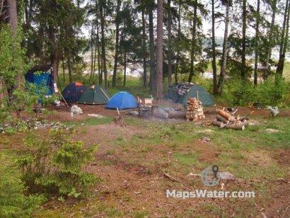 Лагерь на о.Высоцкий